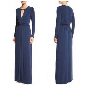 Halston Heritage Navy & Black Evening Gown